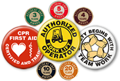 Safety Buttons & Lapel Pins