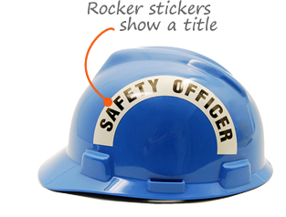 Printed Hard Hat Reflective Rocker Sticker