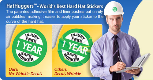Wrinkle-Free Hard Hat Stickers